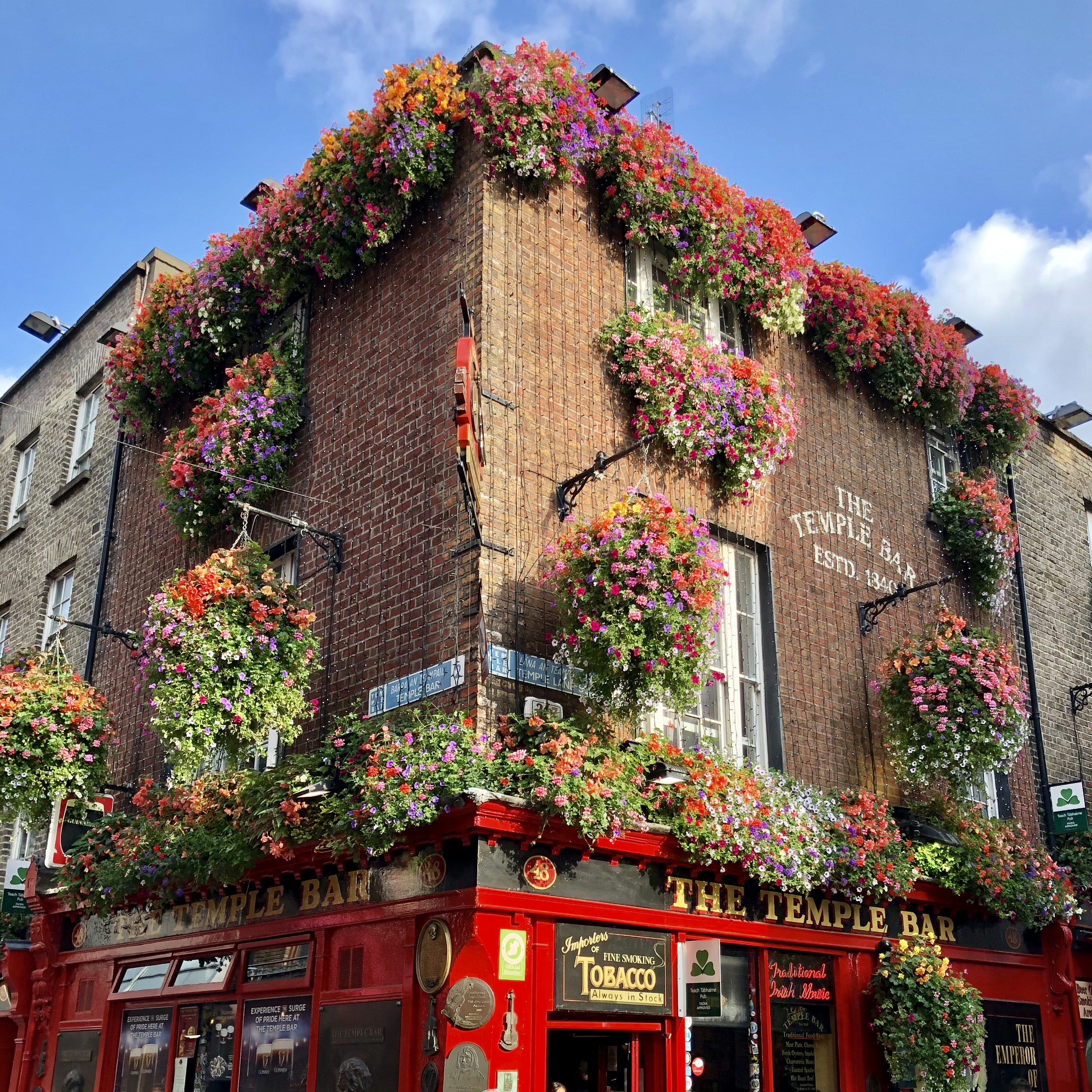 Travel  the world during 2020 by taking the greatest travel pub quiz of all time - The Temple Bar, Ireland - Giddy Guest